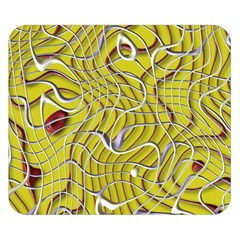 Ribbon Chaos 2 Yellow Double Sided Flano Blanket (Small)