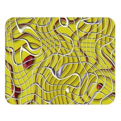 Ribbon Chaos 2 Yellow Double Sided Flano Blanket (Large)