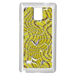 Ribbon Chaos 2 Yellow Samsung Galaxy Note 4 Case (White)