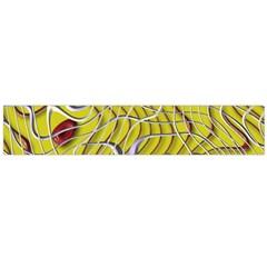 Ribbon Chaos 2 Yellow Flano Scarf (Large)