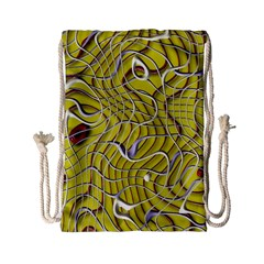 Ribbon Chaos 2 Yellow Drawstring Bag (Small)