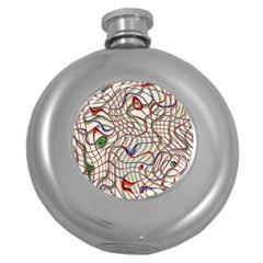 Ribbon Chaos 2 Round Hip Flask (5 oz)