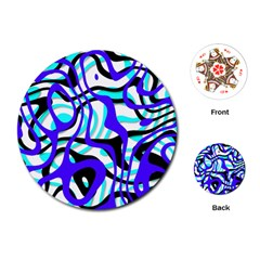 Ribbon Chaos Ocean Playing Cards (Round)