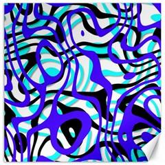 Ribbon Chaos Ocean Canvas 16  x 16