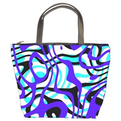 Ribbon Chaos Ocean Bucket Bags
