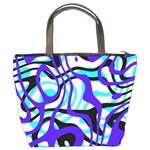 Ribbon Chaos Ocean Bucket Bags Back