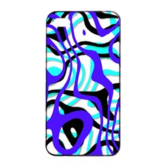 Ribbon Chaos Ocean Apple iPhone 4/4s Seamless Case (Black)