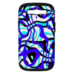 Ribbon Chaos Ocean Samsung Galaxy S III Hardshell Case (PC+Silicone)
