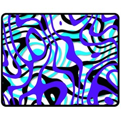 Ribbon Chaos Ocean Double Sided Fleece Blanket (Medium)