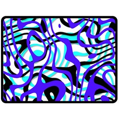 Ribbon Chaos Ocean Double Sided Fleece Blanket (large)