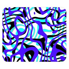 Ribbon Chaos Ocean Double Sided Flano Blanket (small)