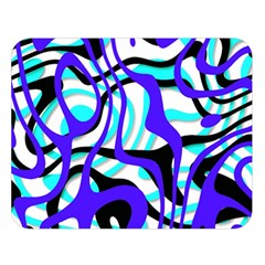 Ribbon Chaos Ocean Double Sided Flano Blanket (Large)