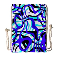 Ribbon Chaos Ocean Drawstring Bag (large)
