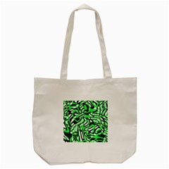 Ribbon Chaos Green Tote Bag (Cream)