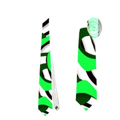 Ribbon Chaos Green Neckties (one Side)