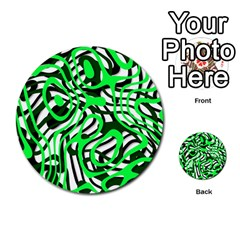 Ribbon Chaos Green Multi-purpose Cards (Round)