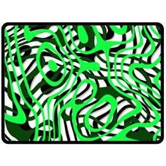 Ribbon Chaos Green Fleece Blanket (Large)