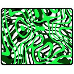 Ribbon Chaos Green Fleece Blanket (medium)