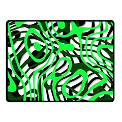 Ribbon Chaos Green Fleece Blanket (Small)