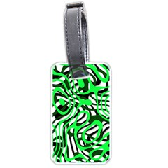 Ribbon Chaos Green Luggage Tags (Two Sides)