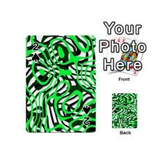 Ribbon Chaos Green Playing Cards 54 (mini)
