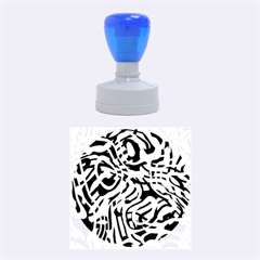 Ribbon Chaos Green Rubber Round Stamps (Medium)