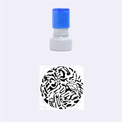 Ribbon Chaos Green Rubber Round Stamps (small)