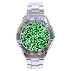 Ribbon Chaos Green Stainless Steel Men s Watch