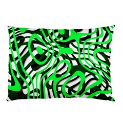 Ribbon Chaos Green Pillow Cases (Two Sides)