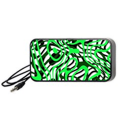 Ribbon Chaos Green Portable Speaker (Black)