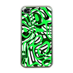 Ribbon Chaos Green Apple iPhone 4 Case (Clear)
