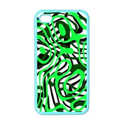 Ribbon Chaos Green Apple iPhone 4 Case (Color)