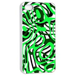Ribbon Chaos Green Apple iPhone 4/4s Seamless Case (White)