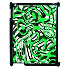 Ribbon Chaos Green Apple iPad 2 Case (Black)