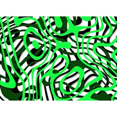 Ribbon Chaos Green Birthday Cake 3D Greeting Card (7x5)