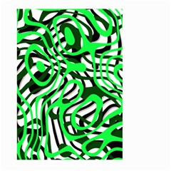 Ribbon Chaos Green Large Garden Flag (two Sides)