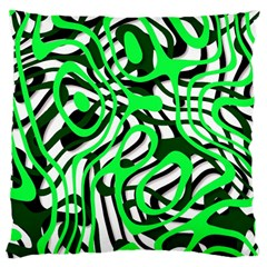 Ribbon Chaos Green Large Cushion Cases (Two Sides)