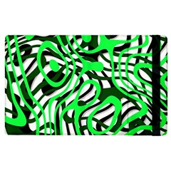 Ribbon Chaos Green Apple iPad 2 Flip Case