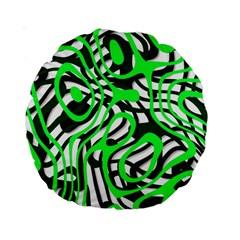 Ribbon Chaos Green Standard 15  Premium Round Cushions