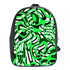 Ribbon Chaos Green School Bags (XL)