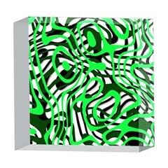 Ribbon Chaos Green 5  x 5  Acrylic Photo Blocks