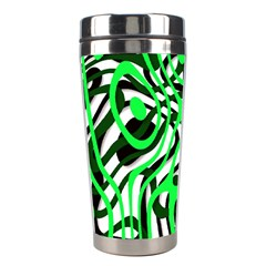 Ribbon Chaos Green Stainless Steel Travel Tumblers