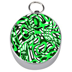 Ribbon Chaos Green Silver Compasses