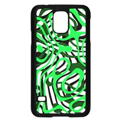 Ribbon Chaos Green Samsung Galaxy S5 Case (Black)