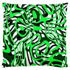Ribbon Chaos Green Standard Flano Cushion Cases (Two Sides)