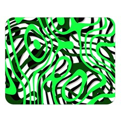 Ribbon Chaos Green Double Sided Flano Blanket (Large)