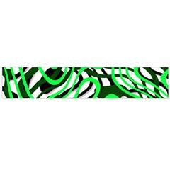Ribbon Chaos Green Flano Scarf (large)