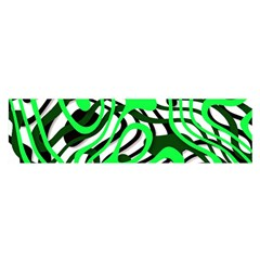 Ribbon Chaos Green Satin Scarf (oblong)