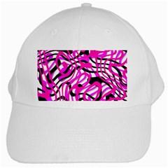 Ribbon Chaos Pink White Cap