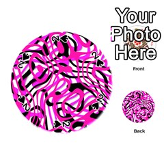 Ribbon Chaos Pink Playing Cards 54 (Round)
